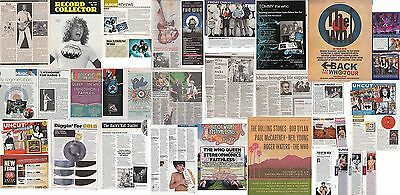 THE WHO : CUTTINGS COLLECTION -adverts etc-
