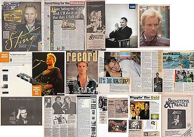 STING- THE POLICE : CUTTINGS COLLECTION -adverts interviews etc-
