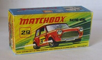 Repro Box Matchbox Superfast Nr.29 Racing Mini