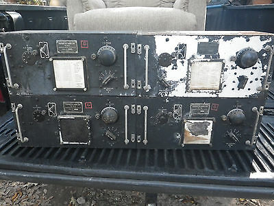 4 WWII US Military U.S. Army Signal Corps TRANSMITTER TUNING UNITS 1940