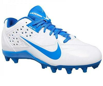 WOMENS NIKE SPEEDLAX LE LACROSSE SOFTBALL WHITE BLUE CLEATS Shoes 9 SEE DETAILS