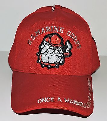 U. S. Marine Corps Red Ball Cap - Adjustable Strap - Adult One Size Fits Most