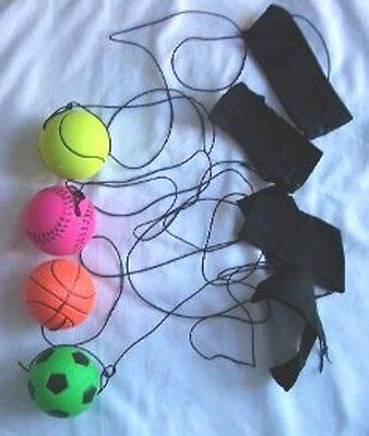 24 Return Sponge Rubber Bouncing Sport Ball with Nylon String Outdoor Play Toys