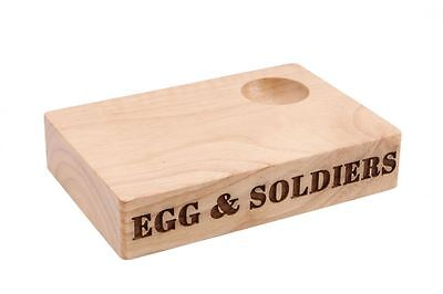 Housewares Boiled Egg And Soldiers Egg Cup Carved Wooden Serving Board