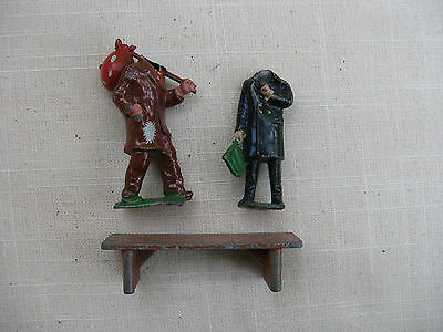 """""""O""""Guage  Bench and 2 headless figures!, Hillco, Crescent, Timpo  Vintage"""