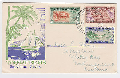 Tokelau Islands 1948 Pictorial Cover Sg1-3 Nukunono- Gb First Day Of Issue