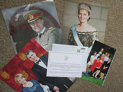 King Michael I of Romania Thank You Card following death of wife & Photographs