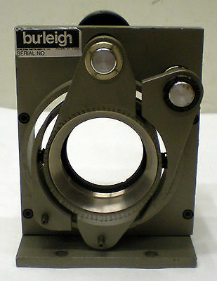Burleigh Instruments 2-Axis Mirror Optical Stage Mount Starrett 1263 Micrometer