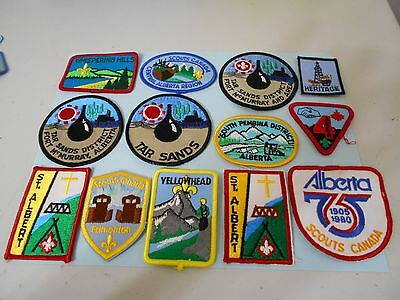 (Oe5-R) Eighty Different Alberta Listed Scout Badges    Canadian Scout Badges