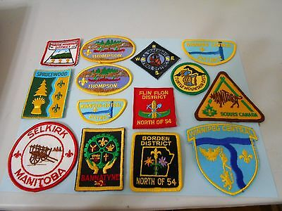 (Oe7-R) Seventy Different Canadian Listed Scout Badges