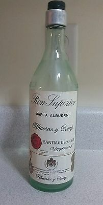 Vintage Ron Superior Carta Albuerne y Comp Cuban Empty Bottle