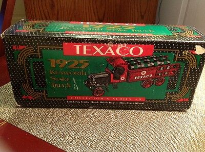 Texaco 1925 Kenworth Stake Truck Diecast Coin Bank Collector Series #9 By ERTL