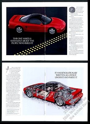 1991 Acura NSX 12 page brochure style intro vintage print ad