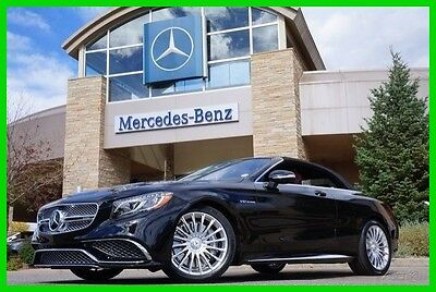 2017 Mercedes-Benz S-Class AMG S65 Cabriolet 2017 AMG S65 Cabriolet New Turbo 6L V12 36V Automatic RWD Convertible Premium