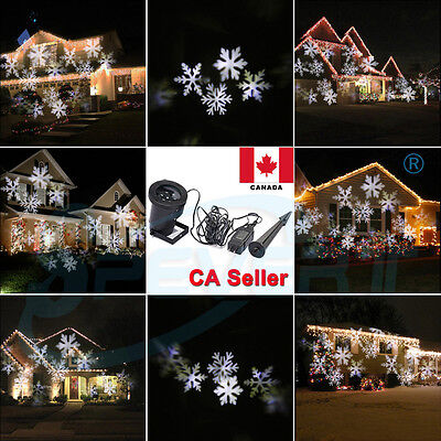 Outdoor Snowflake Landscape LED Laser Projector Light Garden Yard Wall Xmas Lamp
