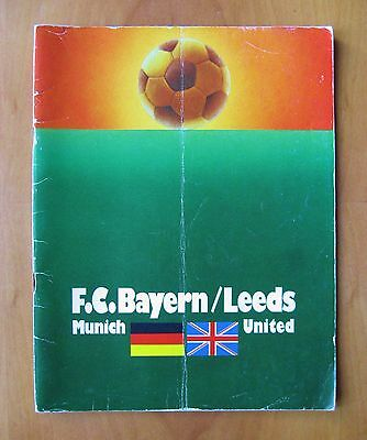 1975 European Cup Final BAYERN MUNICH v LEEDS UNITED *Good Condition Programme*