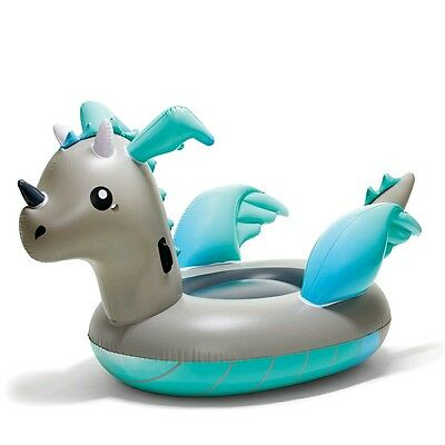 Giant Inflatable Dragon Blow Up Pool Toy Float Swimming Ride On Huge! 2.2m Long!