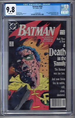 "Batman #428 (1988) CGC 9.8 White Pages  Starlin/Mignola  ""A Death in the Family"""