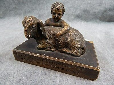 Widemann's Evaporated Goat Milk~Paperweight~FOR BABIES~RARE