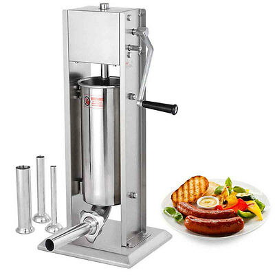20LB Commercial SS Vertical Sausage Stuffer with 2 Speeds 26621