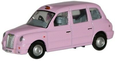 Pink London Taxi 1:76 OO scale Oxford Die-cast UK 76TX4005 England