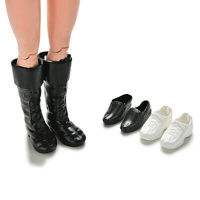 Dolls Cusp Leather Shoes Boots for Ken Doll Barbie Boyfriend Toy 3 Pairs JR