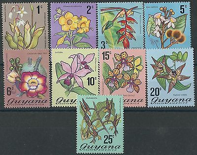 d254)  Guyana. 1971. MNH. SG542 to 550ab. Flowering Plants. c£8+