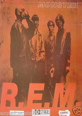 """R.e.m. """"monster"""" New Zealand Limited Edition Numbered Promo Poster"""