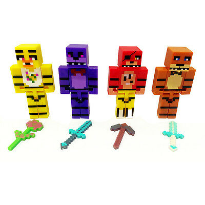 "Five Nights At Freddy's Freddys FNAF 7cm/2.8"" With 4PCS Weapons Toys Block Games"