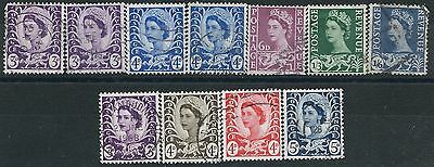 m103) Great Britain -Wales. 1958/67. Used. Small Collection of Wildings.