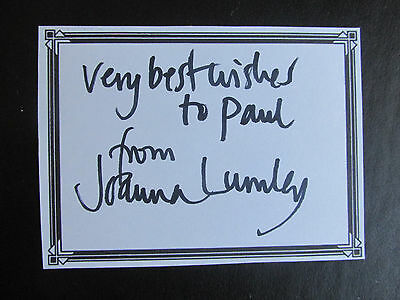 Joanna Lumley Hand Signed & Dedicated Bookplate Absolutley Fabulous