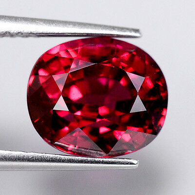 HIGH QUALITY 4.00ct NATURAL100% UNHEATED RED RHODOLITE OVAL FACETTED