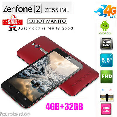 """ASUS Zenfone 2 ZE551ML 5.5"""" HD ANDROID 5.0 32GB Smartphone 4G LTE Cellulare 13MP"""