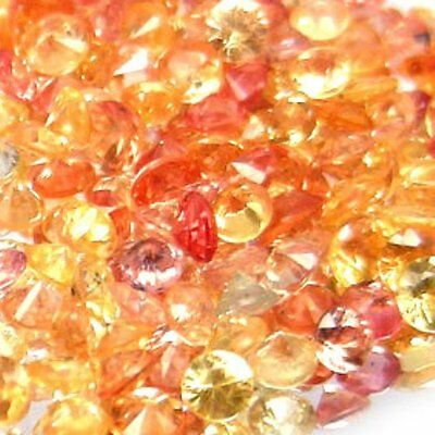 NATURAL RED PINK YELLOW SAPPHIRE LOOSE GEMSTONES (3 pieces) ROUND CUT