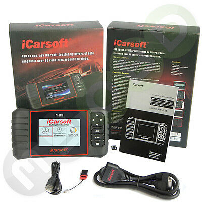 iCarsoft MB II Mercedes Sprinter Vaneo Vito Smart fortwo forfour W210 W211 uvm..
