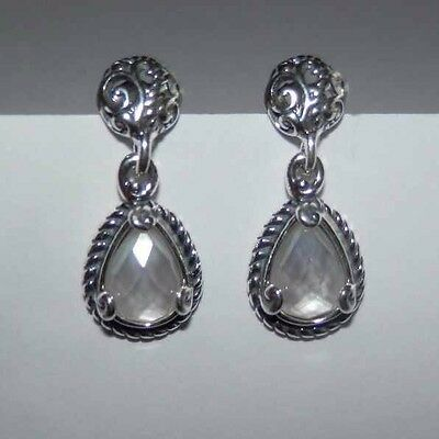Carolyn Pollack White MOP Doublet CP Signature Sterling Silver Earrings