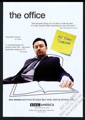 2003 The Office BBC TV show Ricky Gervais photo vintage print ad