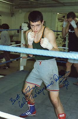 "Colin""dynamo"" Dunne Hand Signed Coloured Photo."