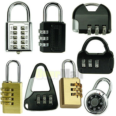 Mini 3/4/10 Digit Dial Combination Suitcase Luggage Metal Code Password Lock US