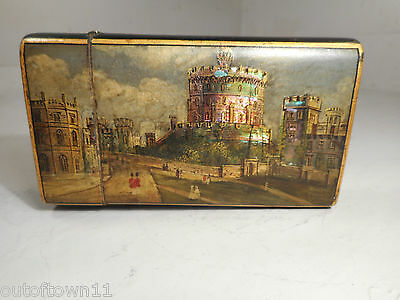 Antique Cigar Case , Windsor Castle , Abalone inlay    ref 1410X20, 12/3E209