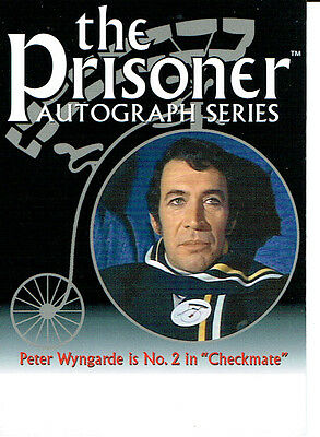 The Prisoner Series 2 Autograph Card Pa7 Peter Wyngarde, Unsigned