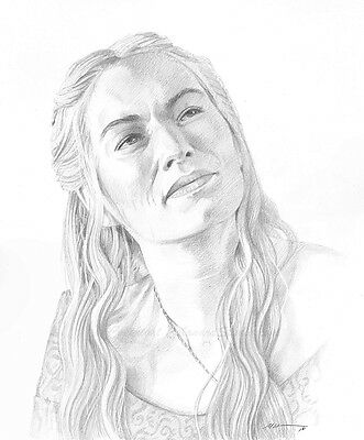 Cersei Lannister Original Pencil Drawing