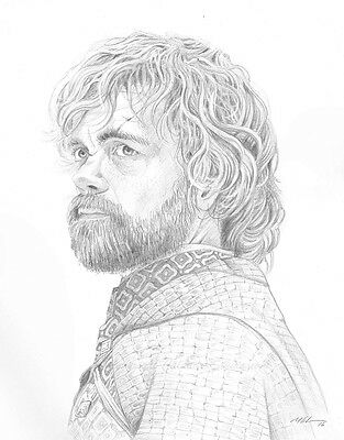 Tyrion Lannister Original Pencil Drawing