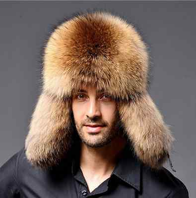 Men's Winter Faux  Fur Russian Hat Trapper Ushanka Cossack Warm Ski Furry Cap
