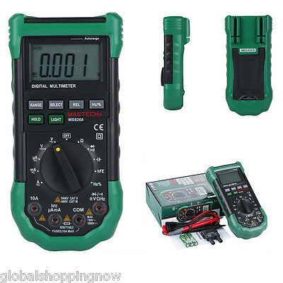 New Mastech MS8268 Digital Auto Range Multimeter  AC DC Ohm Frequency Tester UK