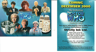 Doctor Who The Definitve Collection Series 1 Promo Card Si-1