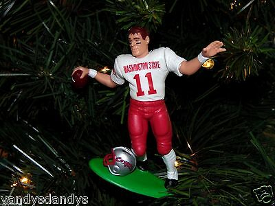 drew BLEDSOE washington STATE cougars FOOTBALL xmas ornament HOLIDAY vtg JERSEY