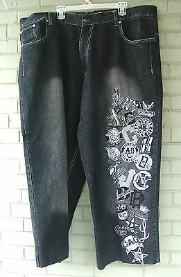 American Negro Leagues Baseball Heavy Embroidered Big Boy Denim Jeans Size 46