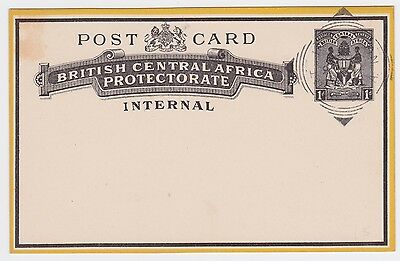 British Central Africa Protectorate 1d PC INTERNAL Nyasaland Pre-Cancel Unposted