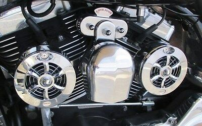 CL-100 Love Jugs Cool Master Chrome V-Twin Engine Cooling System for Harleys